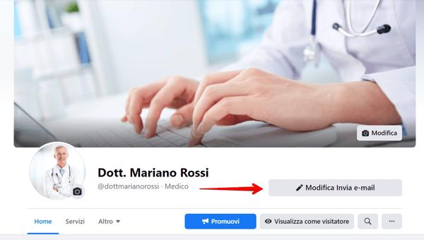 Facebook - Pulsante esistente