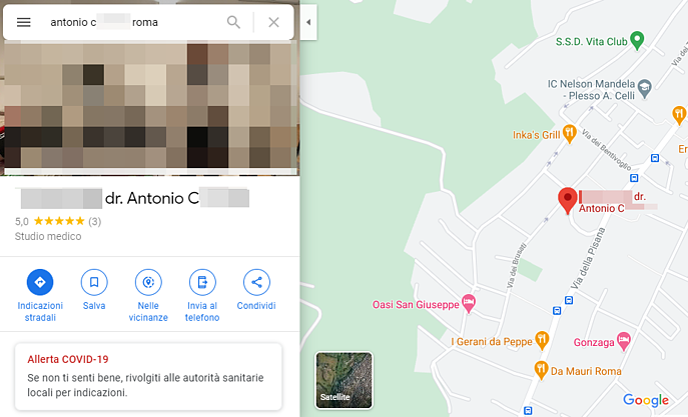 GMB - Scheda Maps